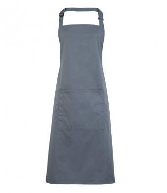 bib apron with pocket steel