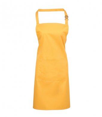 bib apron with pocket sunflower