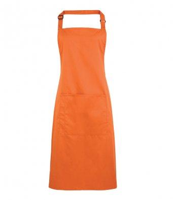 bib apron with pocket terracotta
