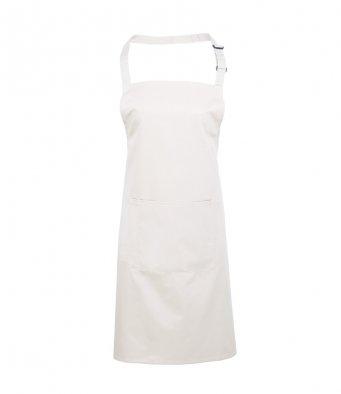bib apron with pocket white