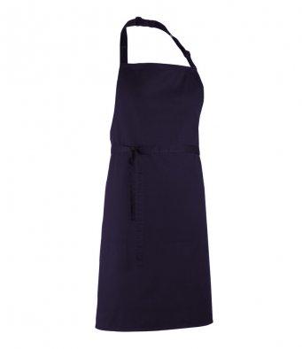 classic bib apron aubergine