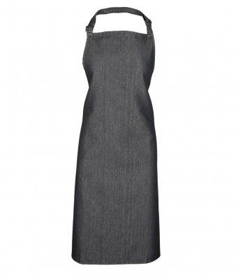 classic bib apron black denim