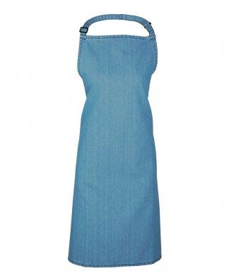 classic bib apron blue denim