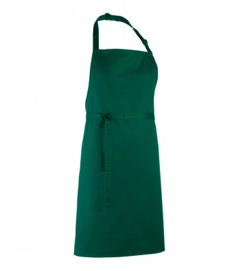 classic bib apron bottle green