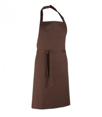 classic bib apron brown