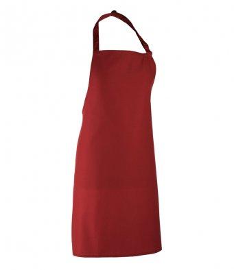 classic bib apron burgundy