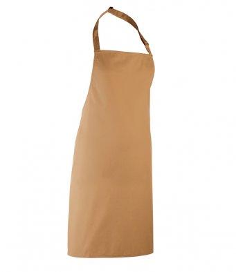 classic bib apron camel