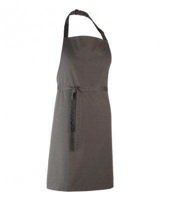 classic bib apron dark grey