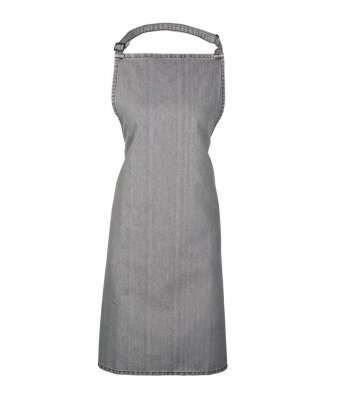 classic bib apron grey denim
