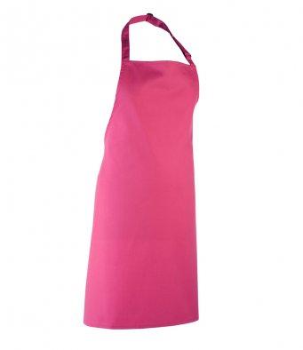 classic bib apron hot pink