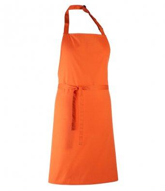 classic bib apron orange
