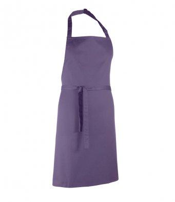 classic bib apron purple