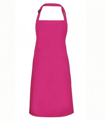 classic bib apron raspberry crush