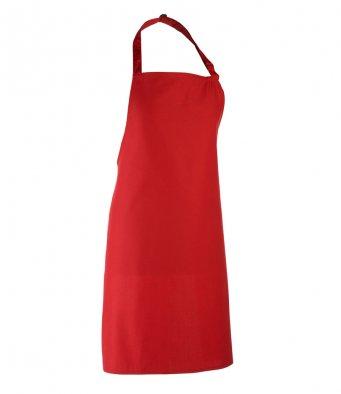 classic bib apron red