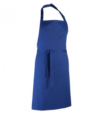 classic bib apron royal blue