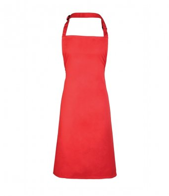 classic bib apron strawberry red