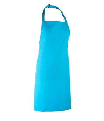 classic bib apron turquoise blue