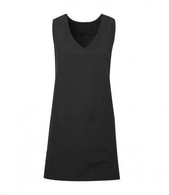 modern wrap around tunic black