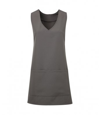 modern wrap around tunic dark grey
