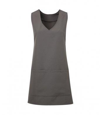 modern wrap around tunic dark grey