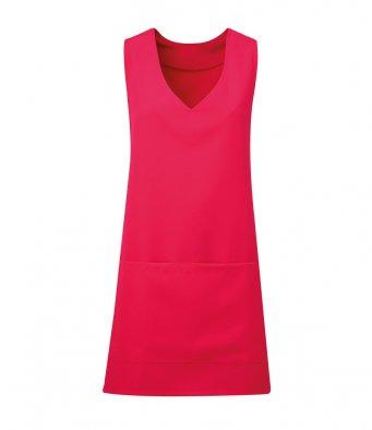 modern wrap around tunic hot pink