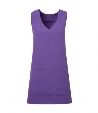 modern wrap around tunic purple