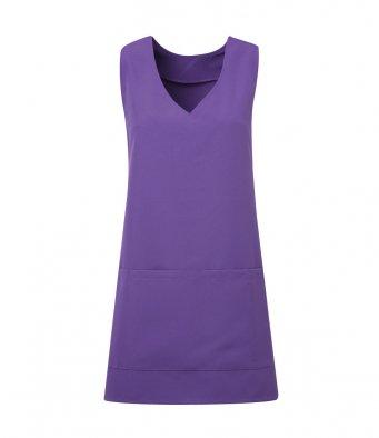 modern wrap around tunic purple