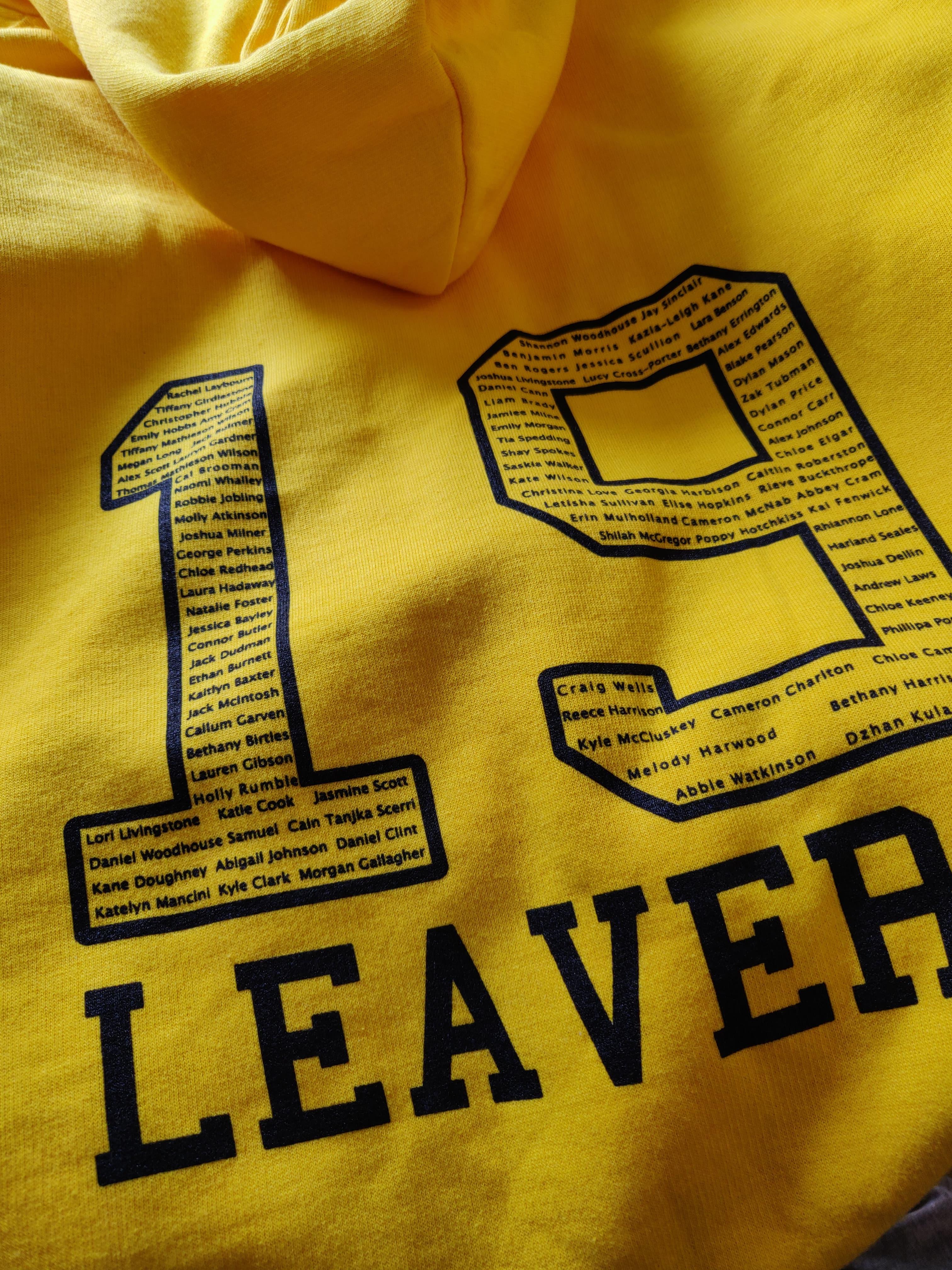 university leavers hoodies