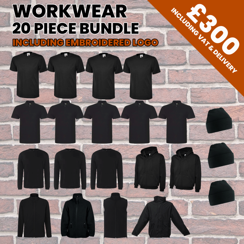 workwear 20pc bundle incl logo