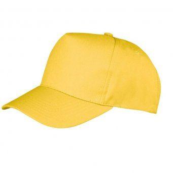 yellow promotional caps