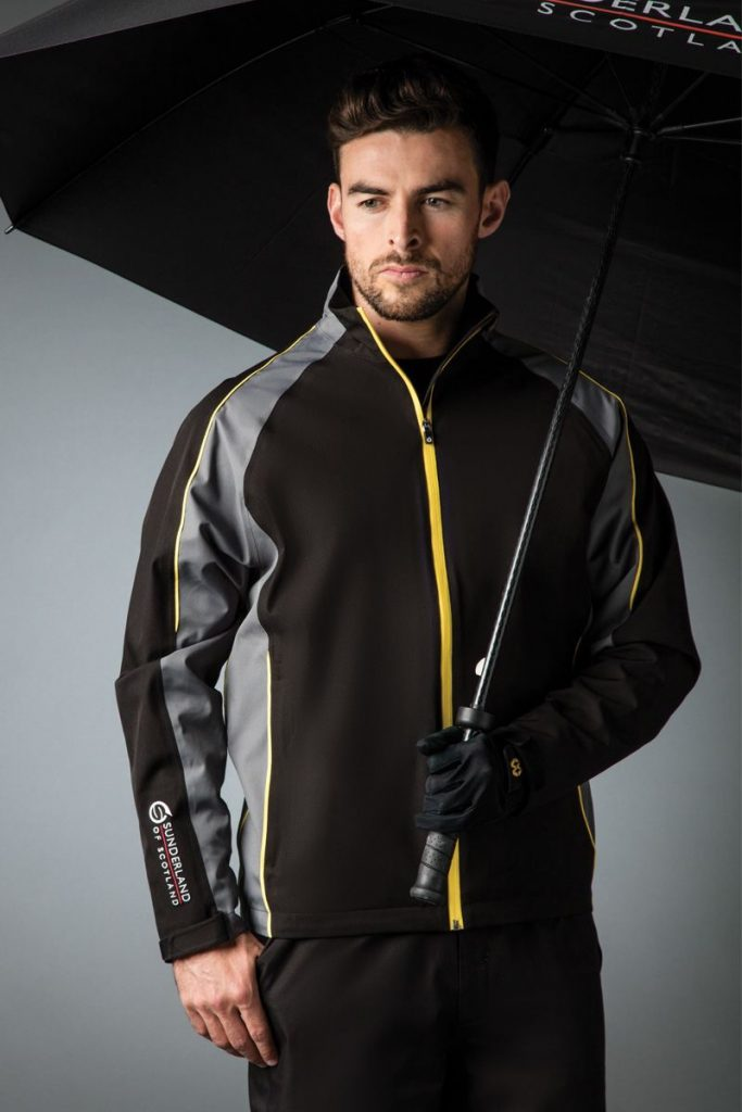 Personalised golf jacket