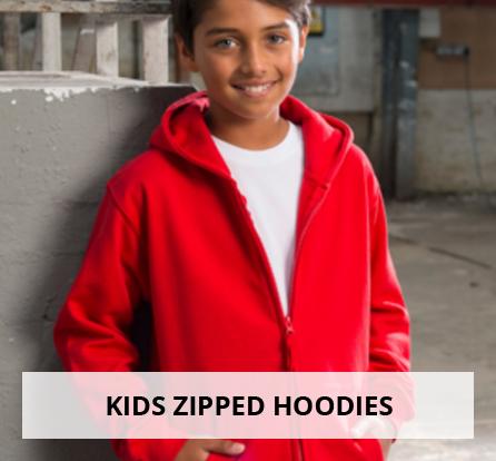 Kids zipped hoodies
