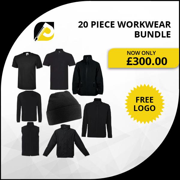 20 Piece Embroidered Workwear Bundle