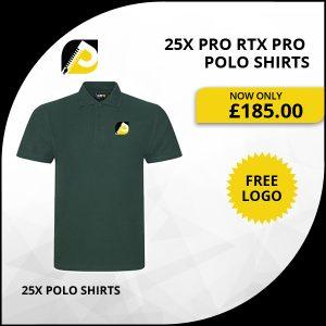 25x pro RTX pro polo shirts
