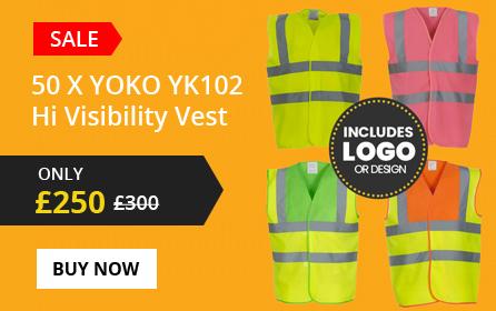 50x YOKO YK102 Hi Visibility Vest