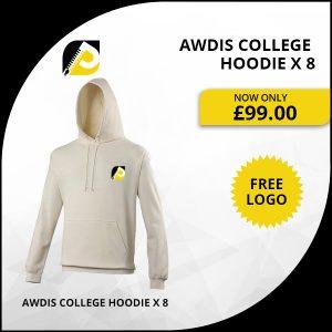 AWDis College Hoodie x 8