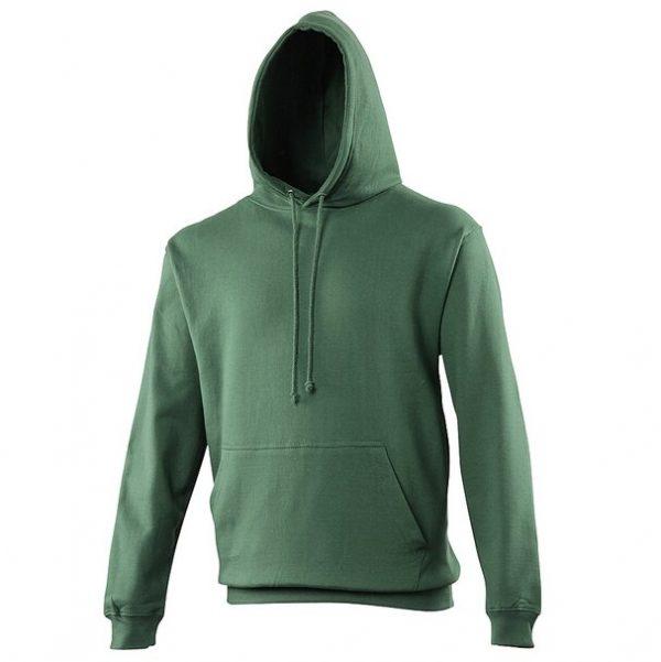 hooded t-shirt bottle green