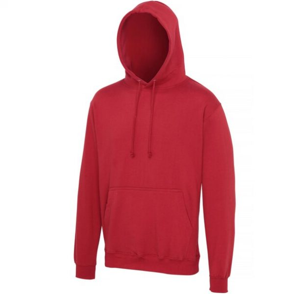 hooded t-shirt brick red