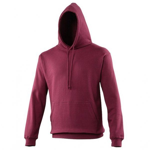 hooded t-shirt burgundy