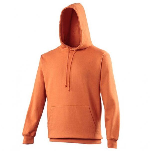 hooded t-shirt burnt orange