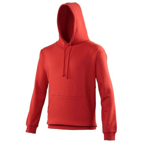 hooded t-shirt fire red