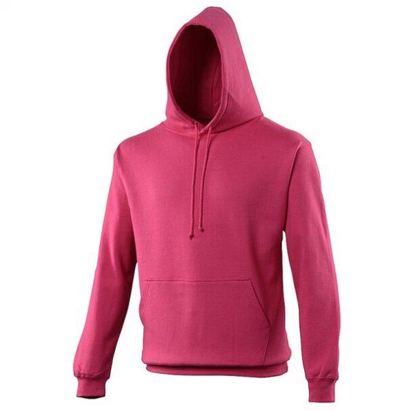 hooded t-shirt hot pink