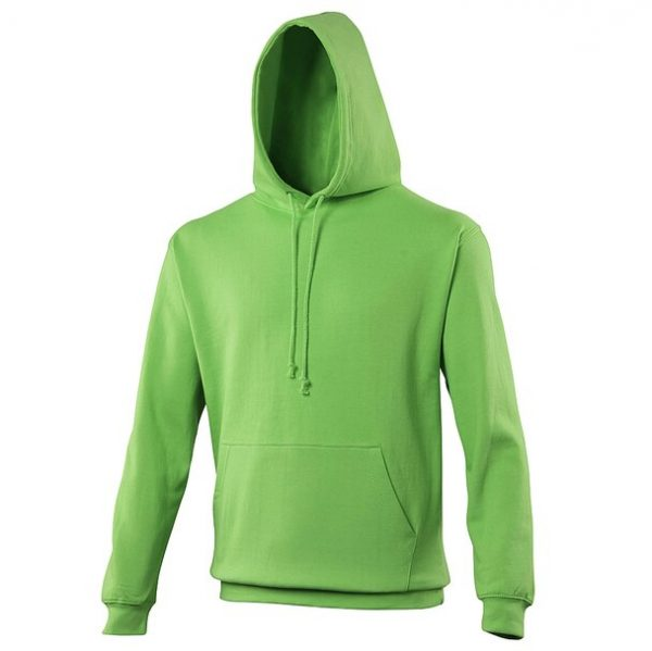 hooded t-shirt lime green