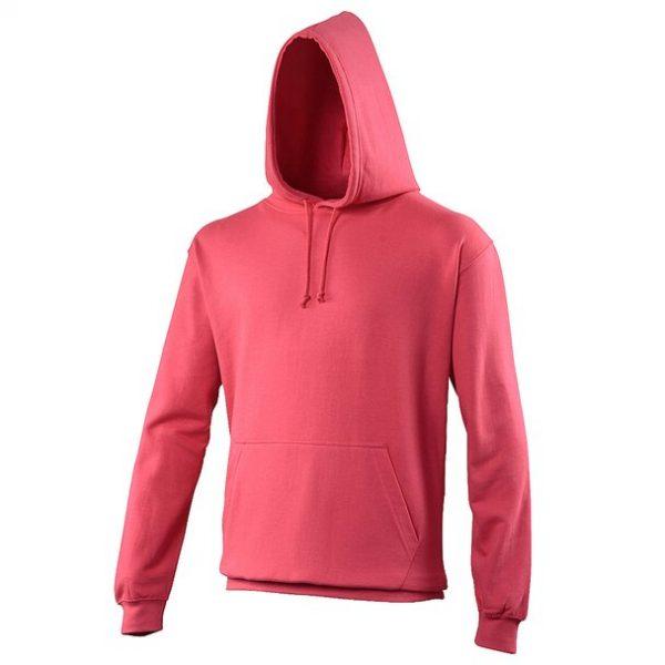 hooded t-shirt lipstick pink
