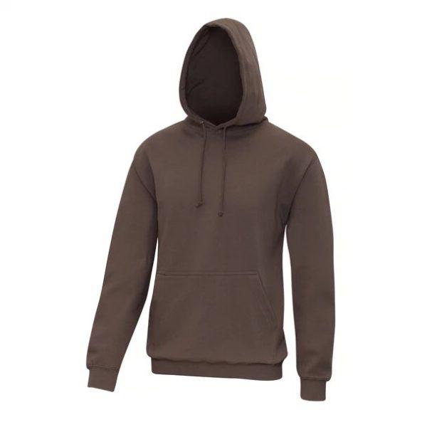 hooded t-shirt mocha brown