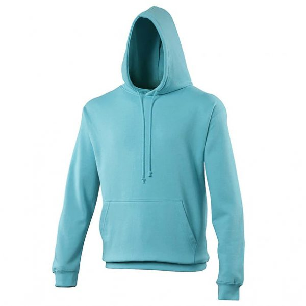 hooded t-shirt Turquoise Surf