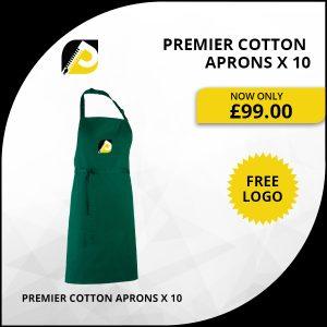 Premier Cotton Aprons x 10