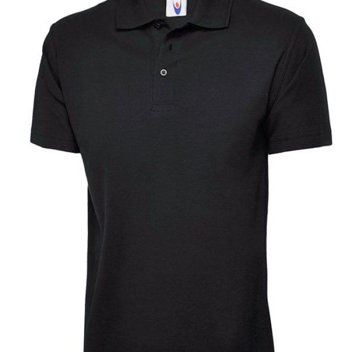 pique polo shirt UC101 black