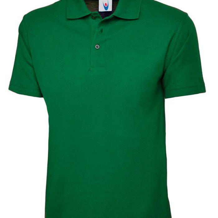 pique polo shirt UC101 kelly green