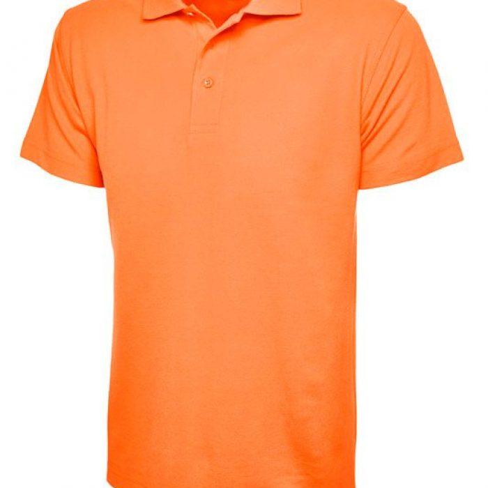 pique polo shirt UC101 orange